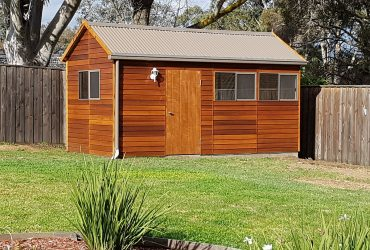 wooden storage by shed quarters