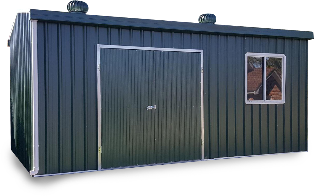 metal storage by shed quarters