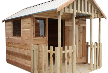 cedar playhouse by shed quarters