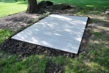 concrete slab from shed quarters