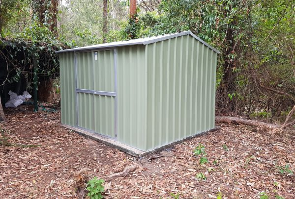 storage was made with rib type roof by shed quarters
