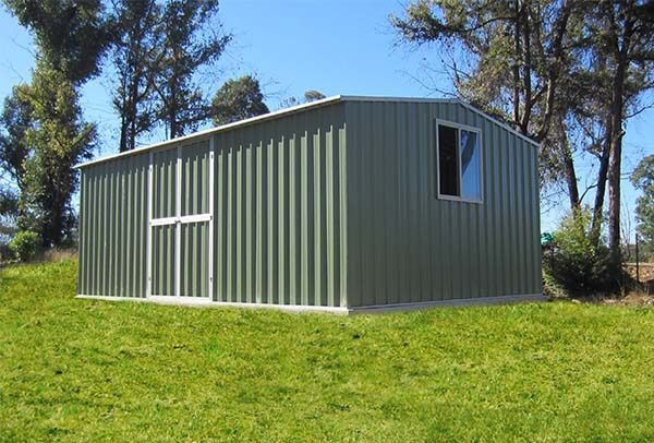 rib type roof storage by shed quarters